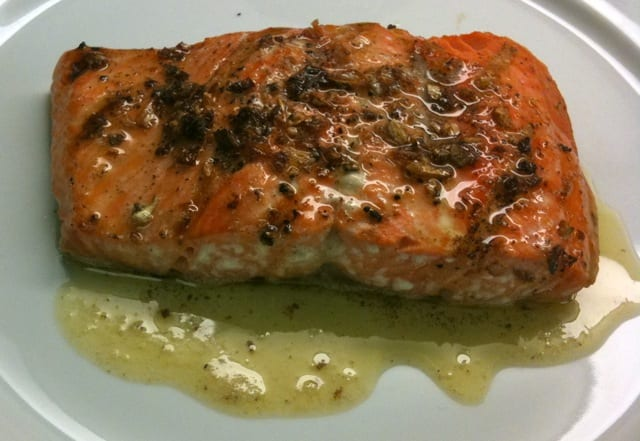 Grilled Salmon with Butter
