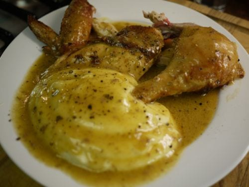 Baked Chicken Potatoe Puree with Chicken Gravy